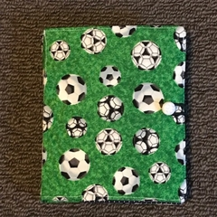 Green soccer ball notepad set