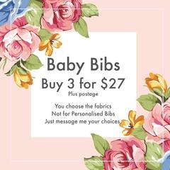 Special Bib Pack - 3 Cute Bibs  - but not for personalised bibs