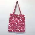 Hot pink flowers shopping bag