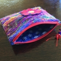 Red Felted Pouch