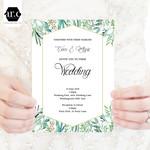 Wedding Invitation/Stationery Editable Templates - DIY - Eucalypt