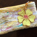 Yellow Felted Pouch