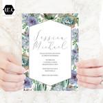 Wedding Invitation/Stationery Editable Templates - DIY - Succulents