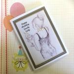 'Happy Birthday Lovely Lady' Birthday Card