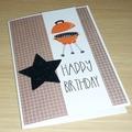 Male Happy Birthday card - bbq