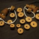 Wooden threading set