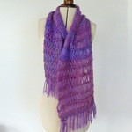 Mohair & wool scarf, hand knitted.  Super special price