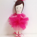 Ballerina Rag Doll - Hot Pink
