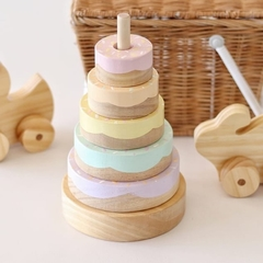 Pastel Rainbow DONUT stacker