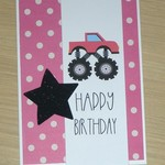 Kids Happy Birthday card - 5 colours - Monster truck