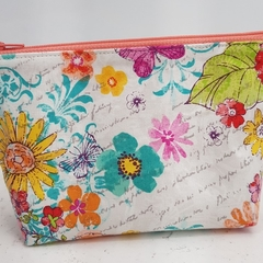 Zippered Pouch / Purse / Case Makeup - Flower Power