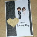 Wedding Day card -Bride and groom