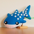 Whale Shark Plush / Shark Softie / Whale Shark Toy / 100% Wool Felt Toy