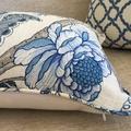 Hamptons Style Cushion, Linen Maison Floral 45cmx45cm