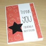 Thank you card - Great teacher