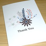 Thank you card - floral bouquet