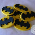 12 x Edible fondant Batman Symbol cupcake toppers