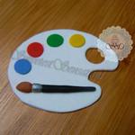 12x edible Fondant Artists Paint Palette