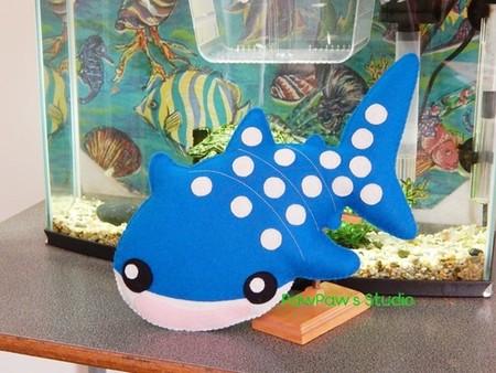 Whale Shark Plush / Shark Softie / Whale Shark Toy / 100% Wool Felt Toy