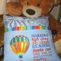 """Hot Air Balloon"" Reading/Pocket Cushion  (cover only)"