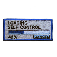 Loading Self Control Computer Geek Embroidered and Iron on Patch