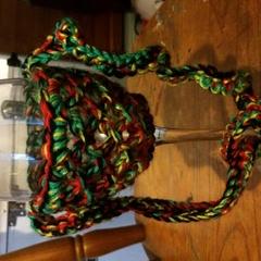 Crocheted Wine Glass Lanyard Multicolored