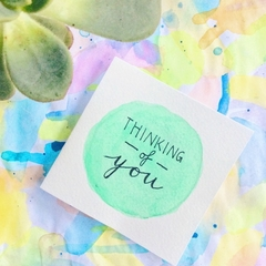 Thinking of You Card - mint green
