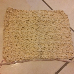 Crocheted Face Cloth/Dish Cloth (Cream)