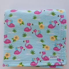 Flannel Baby Blanket - Flamingos