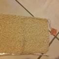 Knitted Face Cloth/Dish Cloth (Cream)