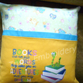 """""""Books Are Not Just Words"""" Reading/Pocket Cushion  (cover only)"""