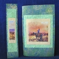 Cowboy Notebook with Green Handmade Paper and Bookmark