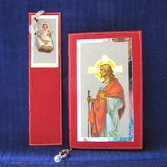 'Jesus Baby and Man' Bookmark and Notebook with Handmade Paper