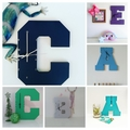 CUSTOM MADE WOODEN LETTER CLOCKS - 