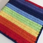 Crochet Baby Blanket | Rainbow |  Pram | Pure Wool | Gift Idea | Ready to Post