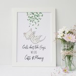A4 Print - Funny Wall Art Print for Home - Cats & Money