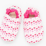 Pink hearts soft soled shoes