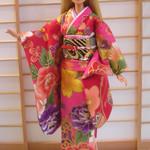 Doll clothes kawaii kimono set for Barbie dolls and similar sized dolls handmade