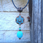 Copper and Turquoise Choker Necklace
