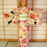 doll clothes 'Lovely kittens' kimono set for Barbie dolls and similar size dolls