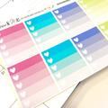 Ombre Heart Checklist Planner Stickers for Erin Condren Planner - LGE001