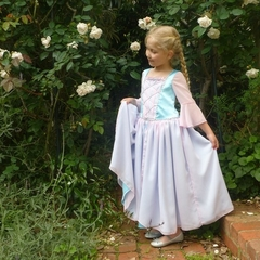 Fairytale Princess dress with silver trim