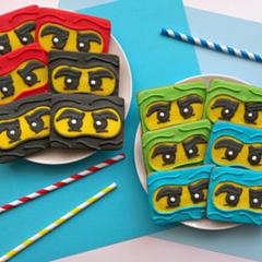 A Dozen Ninjago Cookies