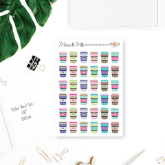 Coffee Planner Stickers for Erin Condren Planner etc - SML002