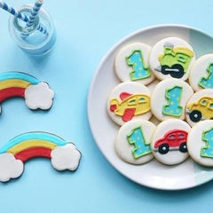 FIRST BIRTHDAY COOKIE GIFT // CARS, TRAINS, PLANES COOKIE // FIRST B'DAY COOKIES