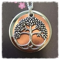 Two toned tree of life Necklace.