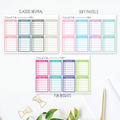 Meal Plan Tracker Planner Stickers for Erin Condren Planner - LGE003