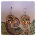 Copper and Silver tree of life earrings