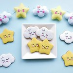 Star and Cloud Cookies // Baby Shower Sweets // Cute Treats