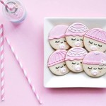 Baby Face Cookies // Baby Shower Cookies